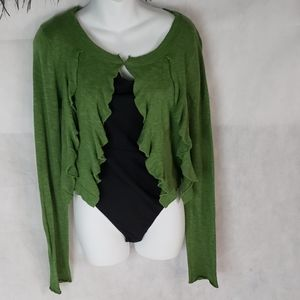 FP FREE PEOPLE green waterfall front cardigan M